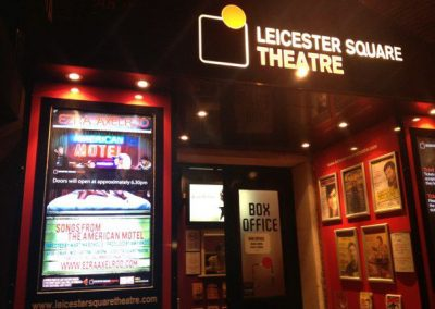 "Leicester Square Theatre entrance. Saturday, March 3, 2012, last night of ""Songs from the American Motel"""